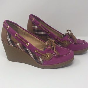 Sperry top sider wedge boat shoes